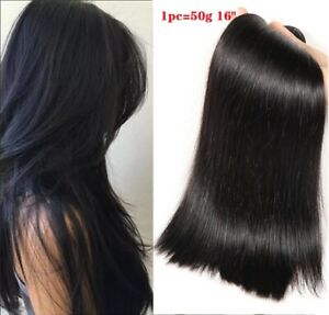 Straight Human Hair 1 Bundle Natural Color Hair Peruvian Human Hair Extensions
