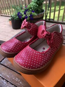 Livie luca Navy Red polkadot Knotty Mary Jane leather Shoes Size 13