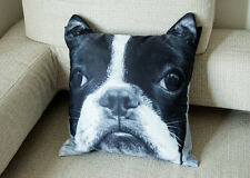 Boston Terrier Dog Cushion Cover Pillow Case #CU-133 - NEW