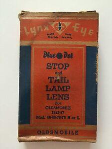 1942-1947 Oldsmobile Lynx Eye Blue Dot STOP & TAIL Lamp Lens, B-438