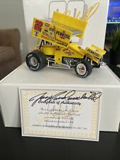 1996 Jack Haudenschild 1:18 die cast sprint car autograph on card