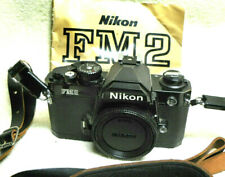 NICE Black Nikon FM2n FM2 N 35mm SLR Film Camera w/ Leather Strap & Manual