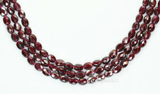 """16"""" Red Garnet Flat Oval Faceted Beads ap.6x8mm #67031"""