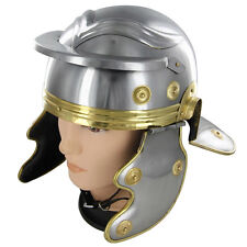 Re-enactment Costume Roman Trooper Steel Galea Helmet Theater Replica