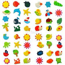 12PC/Lot Useful Colorful Cartoon Animal Wooden Fridge Magnet Kid Educational Toy