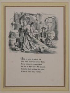 """Gerber - Woodcut Approx. 1870 From """" Pletsch: Something Willst Of Be """""""