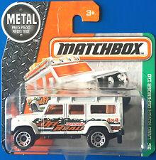 SHORT CARD 2016 Matchbox WHITE 1997 LAND ROVER DEFENDER 110 - Mint on card!