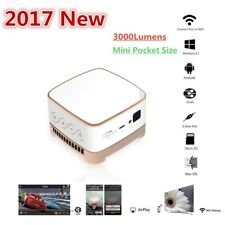 New 3000 Lumens Pocket DLP WIFI HD 1080P Home Theater Projector LED Cinema TF