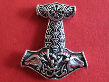 Thor s Hammer 925'er Silber + Geschenkbox + Band etNox Anhänger / KA 350