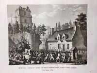 Brie Comte Robert en 1790 Révolution Française Seine et Marne Rare Gravure