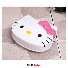 Sanrio Hello Kitty Soap Dish Case Shower Bathroom : Kitty with Pink Bow