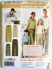 Simplicity 2290 Sewing Pattern Easy Pants for the Family, Size Kids 4 - Mens XL