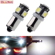2Pcs BAX9S H6W LED Car Lights 6V White Auto Indicator Reverse Parking Bulb Lamps