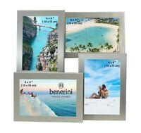 """Multi Aperture Collage 4 Picture Silver Photo Frame 6 x 4"""" Christmas Xmas Gift"""