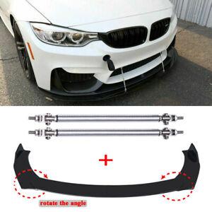 Front Bumper Lip Spoiler Splitter + Strut Rods For BMW F10 F30 F32 F36 F80 M3 M4