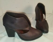 NEW FREE PEOPLE X JEFFREY CAMPBELL DEEP V BURGUNDY ANKLE BOOTS WOMEN'S US 6