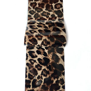 Animal Print Nail Foil Leopard Nail Art Transfer Foil Sticker for Manicure Decor