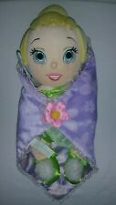 """Disney World Babies Plush Tinkerbell Baby Doll with Blanket 12"""""""