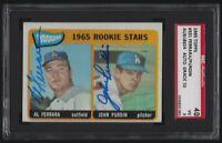 1965 Topps FERRARA & PURDIN Dodgers Signed Card #331 SGC 40 VG 3 *AUTO GRADE 10*