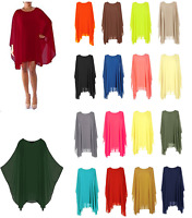 Women Baggy Oversize Chiffon Batwing Summer Ladies Dress Tunic Top Blouse