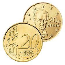 Ek // 20 Cent Grèce # Pièce Nueve : Sélectionnez une Année :