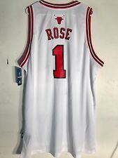 Adidas Swingman NBA Jersey CHICAGO Bulls Derrick Rose White sz 3X
