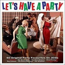 LET'S HAVE A PARTY 3 CD BOX-SET NEW+ ELVIS PRESLEY/FATS DOMINO/BOOBY HART