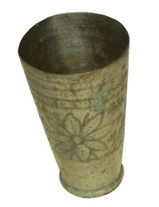 Old Brass Handcrafted Lassi Glass Tumbler Milk Cup Water Glass Table Decor LG003