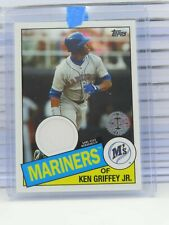 2020 Topps Ken Griffey Jr. 1985 Topps Game Used Jersey Relic Mariners RR1