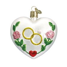 """Wedding Heart"" (30013)X Old World Christmas Glass Ornament w/OWC Box"