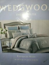 Wedgwood Daisy Light blue Euro Pillow Sham 26X26 NIP