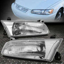 FOR 97-99 TOYOTA CAMRY CHROME HOUSING CRYSTAL LENS HEADLIGHT ASSEMBLY HEAD LAMPS
