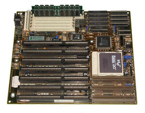 UMC 486 VLB motherboard with Intel 486DX2 66Mhz CPU and 16MB memory