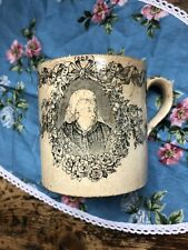 Old Pottery Mug 1897 Diamond Jubilee Queen Victoria Antique Very Old