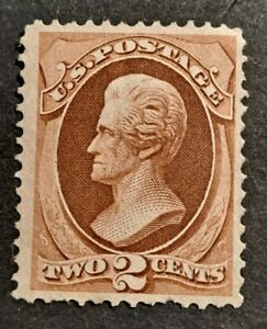 United States 1870 - 1871  Mint Two Cents Jackson Scott#146 without grill