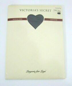 Victoria's Secret Daywear Sheer Pantyhose Control Top Navy Size Small Nylon Blue