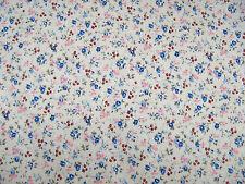 Cottage Garden Fiori Blu in Policotone Stampa Abito Craft Tessuto Venduto da 25 M ROTOLO