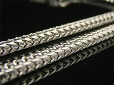 Super Solid Franco/Box Cuban Chain Wg 10k White Gold 4.5 Mm 36' Inch