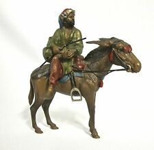 Probably Bergman Orientalist Vienna bronze -hand painted arab on a donkey (#471)