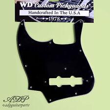 PICKGUARD JAZZ-BASS GAUCHER 3ply Black J-Bass Vintage 20fret 70's-80's Lefty WD