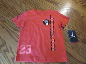 Nike Jordan Dri-Fit Cotton Orange T-Shirt Toddler Boy Size 2T NWT