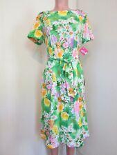 THE STROLLER BY SHELTON STROLLER GREEN FLORAL BELTED SHIFT DRESS, SIZE 16