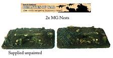 15mm Wargames Terrain 2 x Resin MG Nests