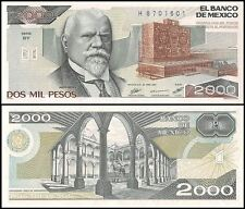 Mexico 2,000 (2000) Pesos, 1987, P-86b, UNC, Series-BY
