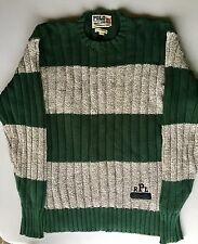 VTG 91 POLO SPORTING GOODS RALPH LAUREN STRIPED CABLE KNIT SWEATER XL