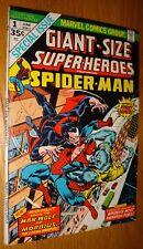 Giant-Size Superheroes Spider-Man Man-Wolf Morbius Gil Kane Vf-