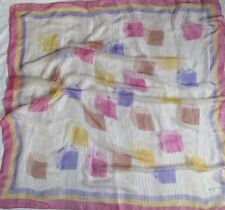 Foulard TED LAPIDUS Paris en soie mousseline TBEG  vintage Scarf  110 x 110 cm