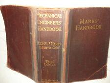 1930 Vintage Mechanical Engineers' Handbook - Lionel S. Marks - 3rd Edition