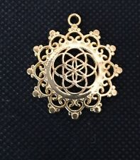 LIMITED OFFER GRAB A BARGIN Seeds Of Life Flower Pendant Coldplay Gold Tone