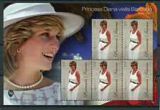 Antigua & Barbuda 2011 MNH Princess Diana Visits Barbuda 5v M/S II $10 High Val